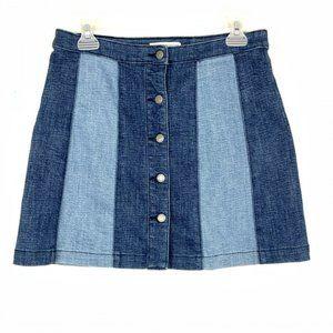 Rebecca Minkoff Denim Skirt Mini Front Buttons